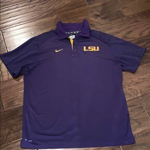 Nike Dry Fit LSU 💜☀️💜 Polo, XL